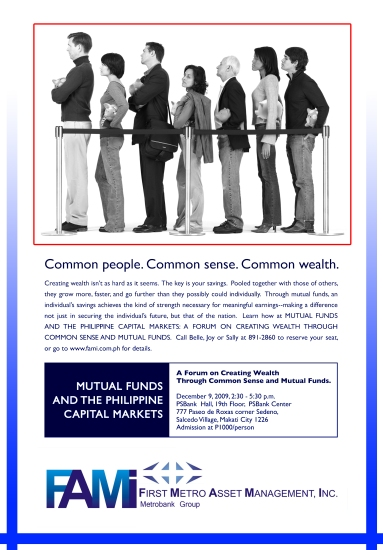 """""""A forum on Creating Wealth through Common Sense and Mutual Funds"""""""